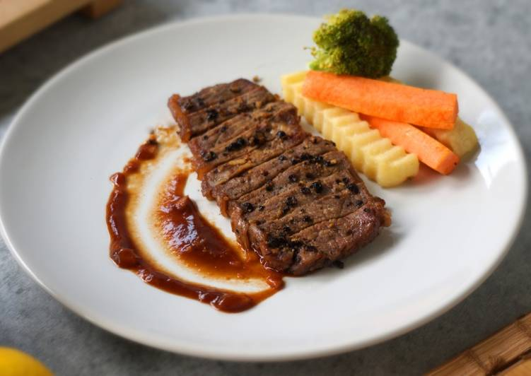 cara masak steak daging sapi empuk