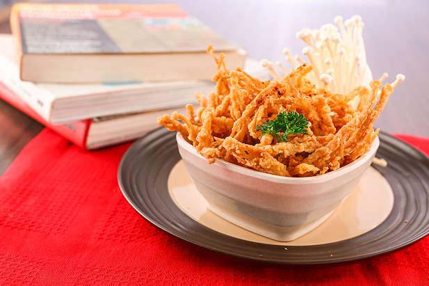 cara membuat jamur tiram crispy