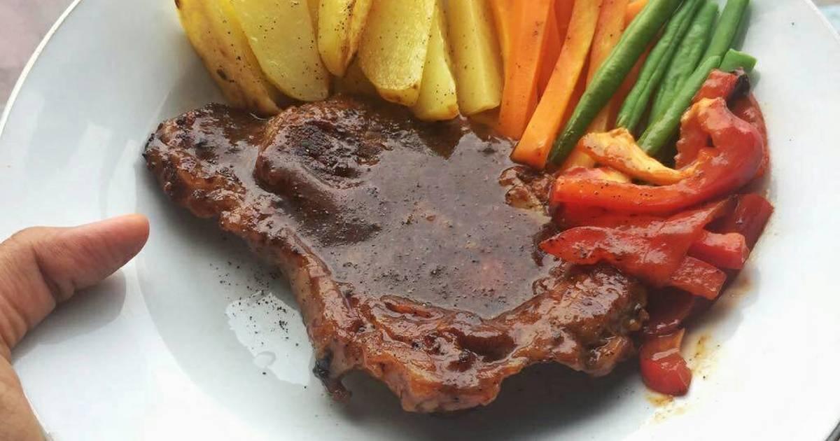 resep steak daging sapi lada hitam